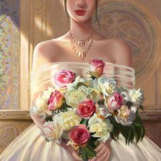Bridesmaid Dresses, Wedding Dresses, Strapless Dress, Drawing, Digital, Artwork, Fashion, Bridesmade Dresses, Bride Dresses