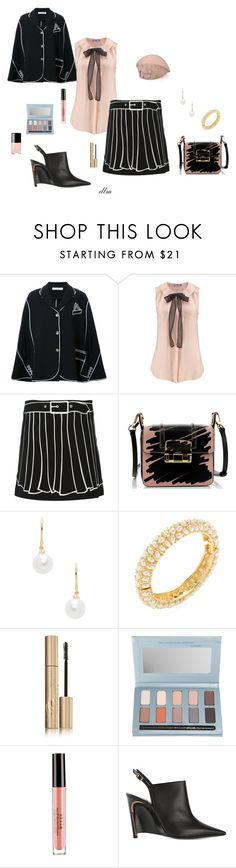 """""""Black"""" by dmiddleton ❤ liked on Polyvore featuring VIVETTA, Lanvin, TARA Pearls, Kenneth Jay Lane, Stila and Chanel"""