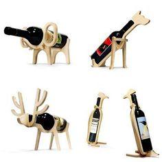 Original wine holder Animals Elephant Dog Reindeer Penguin for home decor