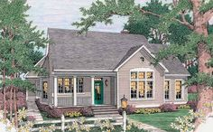 Eplans Cottage House Plan - Family-Friendly Layout - 1543 Square Feet and 3 Bedrooms from Eplans - House Plan Code HWEPL09810