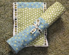 Burp Cloths and Changing Pad