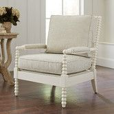 In Navy and White Stripes...Found it at Wayfair - Henderson Chair, Ivory