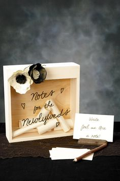 Cool Idea! Notes for the Newlyweds, could set up on a table...