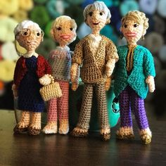 Happy #internationalwomensday! Love Sophia Rose Dorothy and Blanche #goldengirls #thegoldengirls #craftyiscool #crochet
