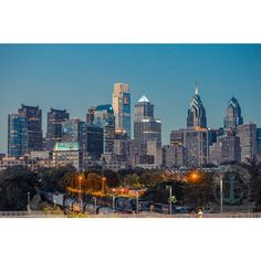 Philadelphia Skyline at Dusk From South Street Bridge Fine Art... ($13) ❤ liked on Polyvore featuring home, home decor, wall art, black, home & living, home décor, disney wall art, wall street art, black wall art and photography wall art