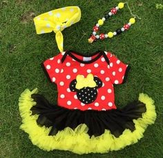 """THE MINNIE POLKA DOT TUTU SET PRICE: $24.99 OPTIONS: 0/6M, 6/12M, 12/18M, 18/24M To purchase: comment """"sold"""", size & email"""