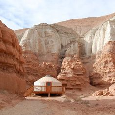 yurt camping in goblin valley | @mer_mag instagram
