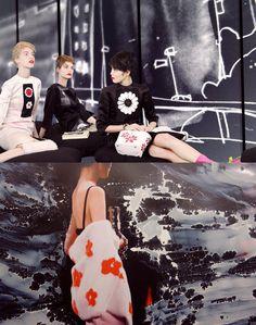 Prada Real Fantasies Spring - Summer 2013 Lookbook with artwork by Lok Jansen and Jeroen Koolhaas