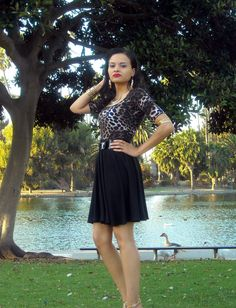 ON SALE Leopard Print Full Skater Dress by lanationclothing, $32.50