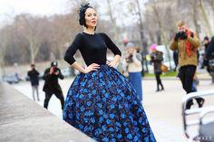 Ulyana Sergeenko, Paris Fashion Week