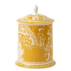 Storage Jar in Cantaloupe, Mikado series by Royal Crown Derby