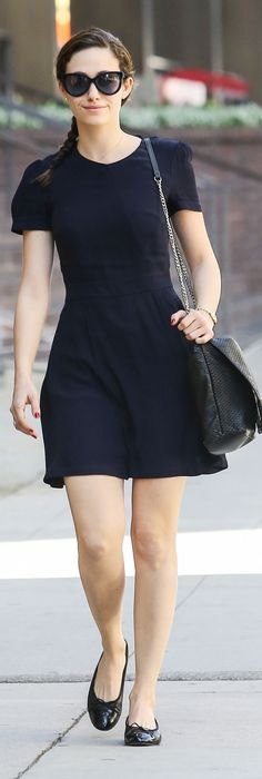 Emmy Rossum. Even on an off day, she still looks so classy and put together.