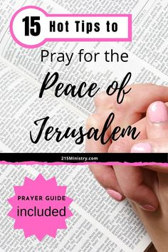 Do you wonder what to pray for when praying for the peace of Jerusalem? Well, wonder no more as this post includes a free prayer guide. Tuck it in your Bible or keep it where you have your devotionals.