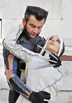 Marvel X-Men - Days of Future Past - Rogan Cosplay (Rogue and Logan/Wolverine) Ph: Arianna Berti Rogue Cosplay, Logan Wolverine, Days Of Future Past, Men's Day, Marvel X, Guys And Girls, Rogues, X Men, Comic Books