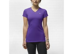 Nike Pro Fitted V-Neck II Women's Shirt - $30 small purple and one in white
