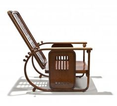 Josef Hoffmann  Sitzmaschine adjustable lounge chair, 1908, UEA 70003, photo: Pete Huggins From 'The First Moderns' 2012