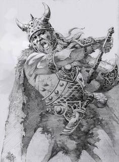 El Viking by elshazam on DeviantArt Tatto Viking, Viking Tattoos For Men, Viking Warrior Tattoos, Viking Tattoo Design, Viking Art, Tattoo Designs Men, Norse Mythology Tattoo, Norse Tattoo, Inspirational Tattoos For Guys