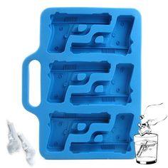 handgun shaped ice cube tray
