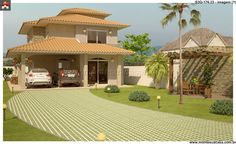 Planta de Sobrado - 3 Quartos - 176.33m² - Monte Sua Casa