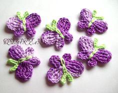 Butterfly  Applique Handcraft crochet Schmetter...