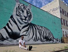Eddy Kenzo with Brooklyn, New York's unique street art