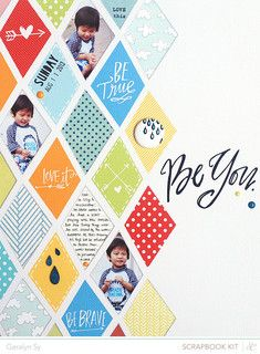 Be You by Geralyn - fun use of the Lindsay Letters digital stamps #SCdoublescoop