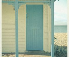 Perfect color for a beach cottage door