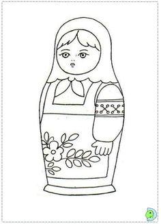 matryoshka coloring page dinokidsorg