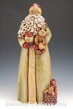 carved santas | Christmas Wishes | Santa Claus Figurines and Hand Carved Wooden Santas
