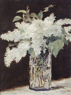 Edouard Manet White Lilacs ✏✏✏✏✏✏✏✏✏✏✏✏✏✏✏✏ IDEE CADEAU / CUTE GIFT IDEA ☞ http://gabyfeeriefr.tumblr.com/archive ✏✏✏✏✏✏✏✏✏✏✏✏✏✏✏✏