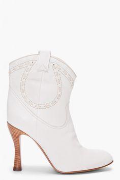 43761536c60 MARC JACOBS White Shoes Cow Boy...these make me laugh