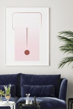Modern Geometric Wall Art Decorations by LinePrintable! Decorate your home with money saving and ready to print wall art perfect for living room, bedroom or bathroom!
