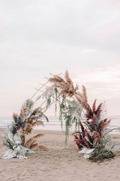 30 Summer Wedding Trends Ideas ❤️ summer wedding trends bohemian beach ceremony with pampas grass and large leaves zhenyaswan To help you to be in trend we create this inspirational gallery. Read on and find summer wedding trends for your celebration. Wedding Trends, Wedding Designs, Wedding Ideas, Decor Wedding, Wedding Altars, Wedding Pictures, Wedding Centerpieces, Summer Wedding Decorations, Wedding Quotes