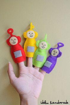 ideku handmade: {teletubbies finger puppets}
