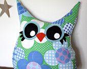 Handmade Plush Stuffed Animals Owl Pillows by 5orangepotatoes
