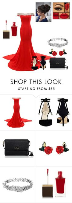 """Glamour Gal"" by vaprapper ❤ liked on Polyvore featuring Nine West, Kate Spade and Tom Ford"