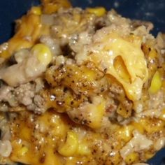 Hamburger Rice Cheese Casserole: This was one of the most popular lunches our school cooks made for us. My family also loves it. It's an easy weeknight dinner and also freezes well. I often make a double batch and freeze one pan for later. Hamburger Rice Casserole, Casserole Dishes, Hamburger And Rice Recipes, Casseroles With Hamburger Meat, Casseroles With Rice, Recipes With Rice, Easy Hamburger Meat Recipes, Supper Ideas With Hamburger, Ground Turkey Casserole