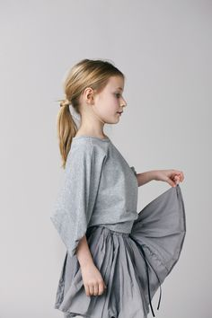 Many of the pieces have a balletic inspiration in the Gro fall 2013 kids fashion range.