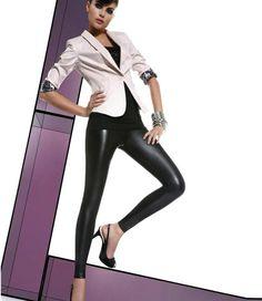 Bas Bleu Elen leather look legging Zwart Mode Des Leggings, Basic Leggings, Tight Leggings, Leggings Are Not Pants, Black Leggings, Legging Outfits, Leggings Fashion, Look Legging, Shabby Chic