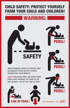 How to safely (for you) change your baby's diaper.