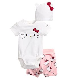 3-teiliges Jerseyset | Hellrosa/Hello Kitty | Kids | H&M DE