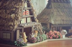A drinking party in my handcrafted mini Japanese village