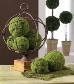 Decorative Moss Balls Extraordinary Diy For Moss Covered Styrofoam Ballsthe Yellow Cape Cod Client Design Inspiration
