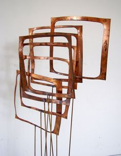 Mid Century Modern Sculpture Signed Abstract by bigbangzero, $900.00