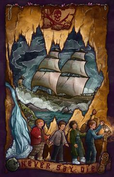 """""""Never Say Die""""- custom illustration paying homage to Steven Spielberg's 80s classic and incredibly inspiring film """"The Goonies."""""""