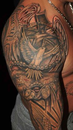 Religious Sleeve Tattoos 14