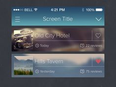 iPhone iOS 7 UI Blur PSD by Charles Treece