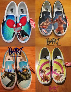 Custom painted shoes. , via Etsy.