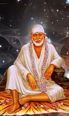 Sai Baba Pictures, God Pictures, Sai Baba Bhajan, Shirdi Sai Baba Wallpapers, Indian Spirituality, Sai Baba Hd Wallpaper, Saints Of India, Sai Baba Quotes, Baba Image