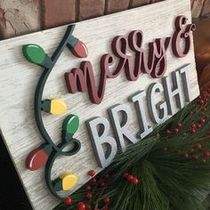merry christmas Merry and Bright Christ - Merry Christmas, Christmas Wood, Christmas Signs, Christmas Projects, All Things Christmas, Holiday Crafts, Christmas Holidays, Christmas Decorations, Holiday Decor